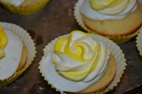 Frosted Pineapple Upside Down Cupcake