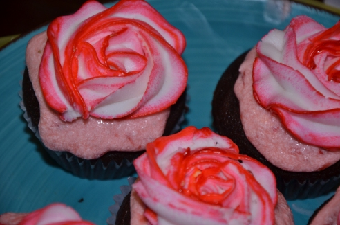 Chocolate and Strawberry Cupcake