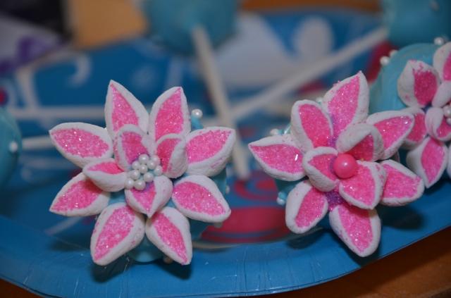 Pink Flowering Gluten Free Cake Pop