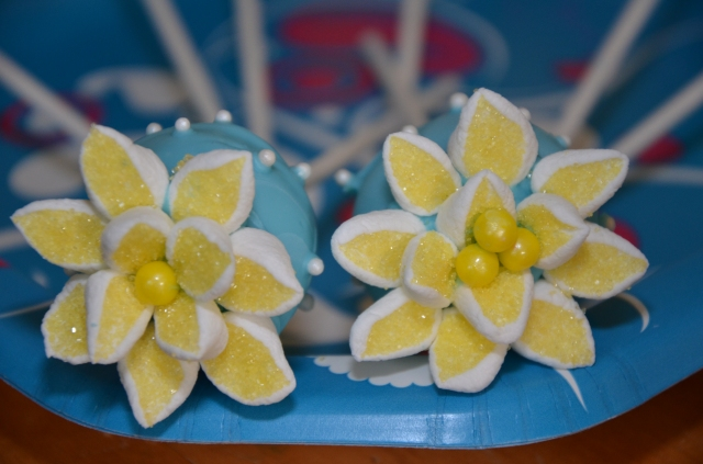 Yellow Flowering Gluten Free Cake Pop