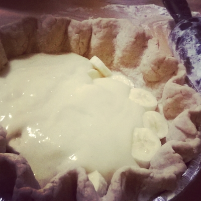 Banana Cream Pie Gluten-free, dairy-free options available.