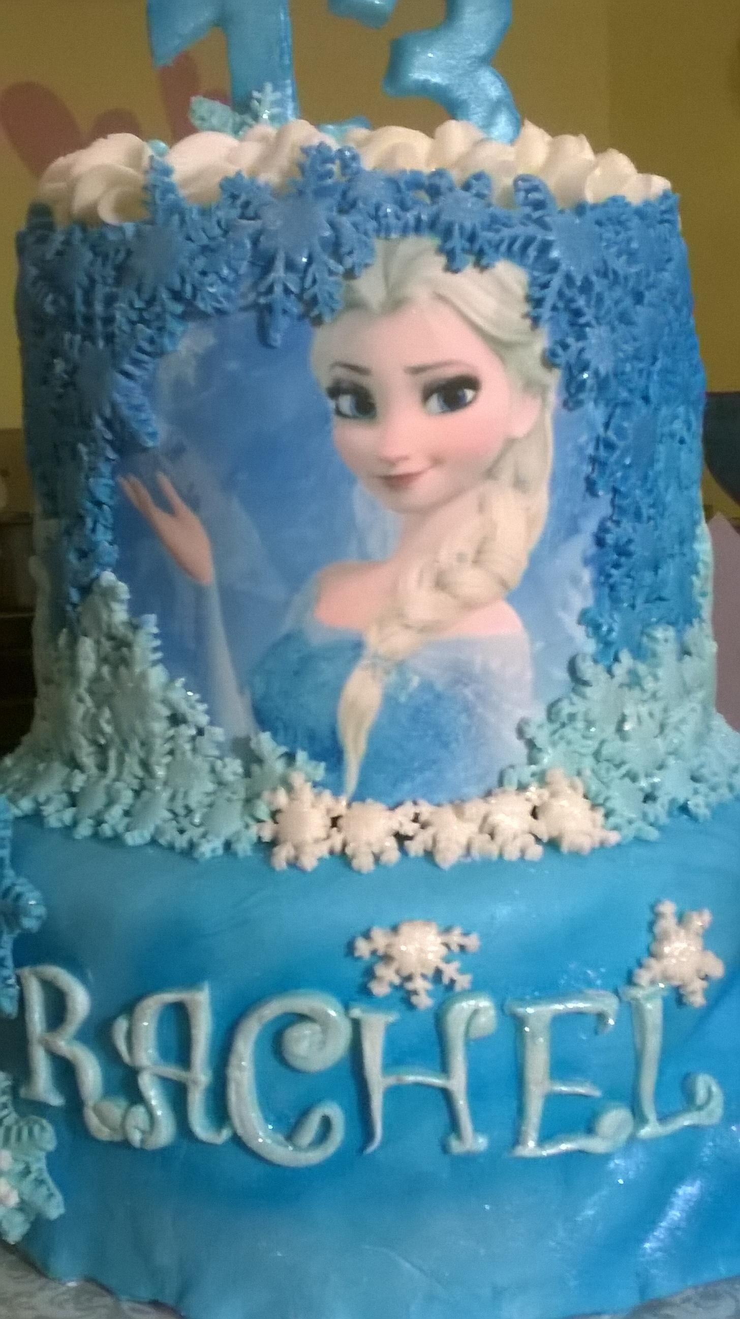 Elsa Frozen Cake Tutorial By Grace Cakes