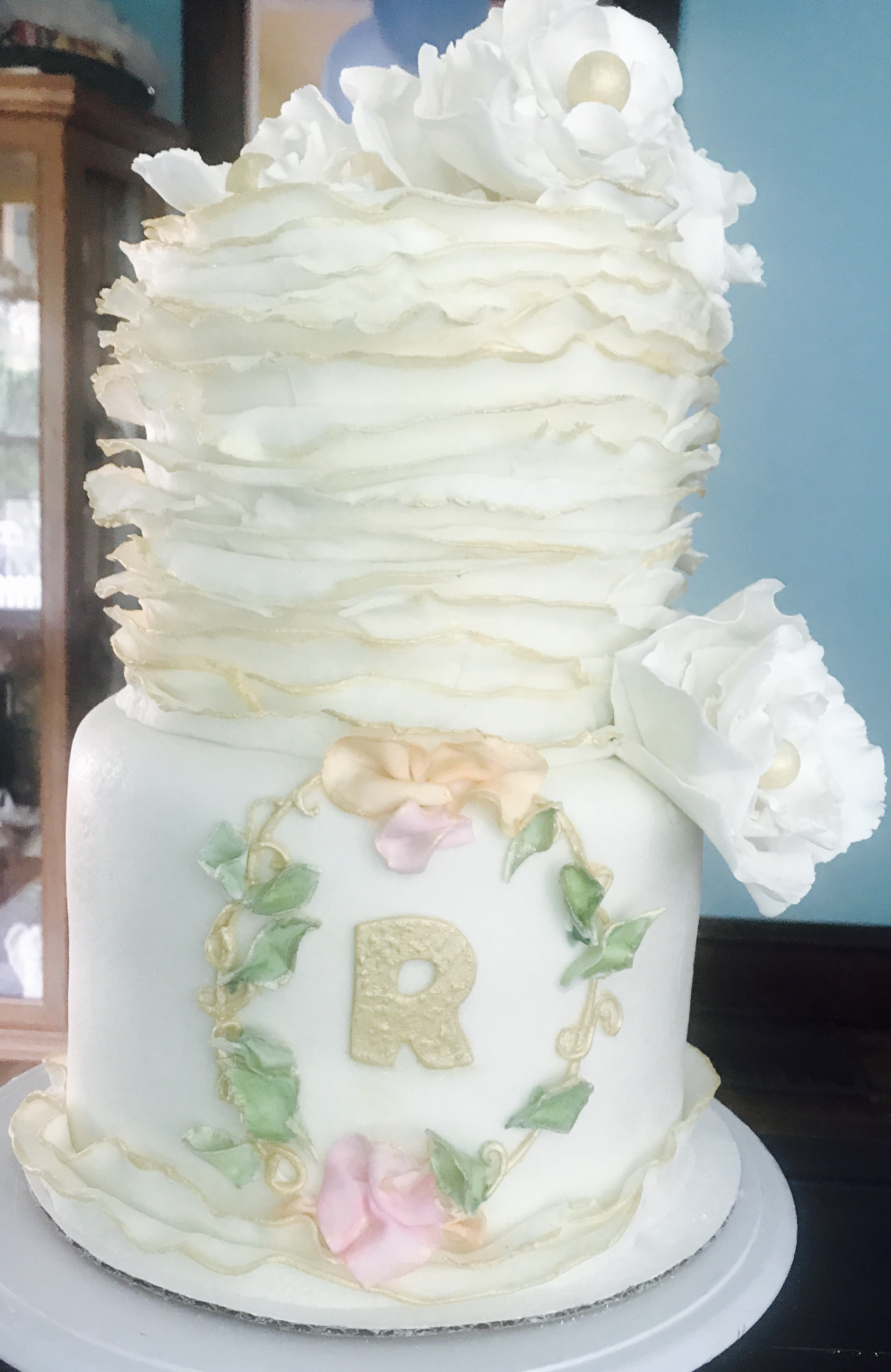 Shabby Chic Wedding Cake | By Grace Cakes